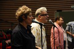 Répétition de l'orchestre symphonique du Pas-de-Calais avec Cécile Richard et Sanseverino, le 6 mai
